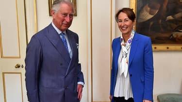 Ségolène Royal reçue par le prince Charles à Clarence House à Londres.