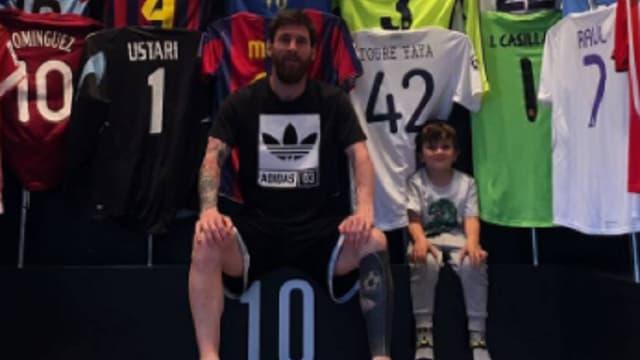 Lionel Messi et sa collection de maillots