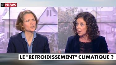 """La militante écologiste Claire Nouvian, face à la chroniqueuse Elisabeth Lévy, lundi 6 mai, dans l'émission """"L'heure des pros"""" sur CNews."""