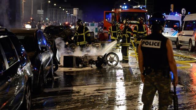 Des incidents ont éclaté à Lyon, jeudi soir, après la qualification de l'Algérie en 8e de finale de Coupe du monde.