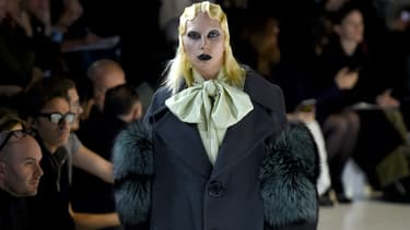 Lady Gaga à la Fashion Week de New York le 18 février 2016