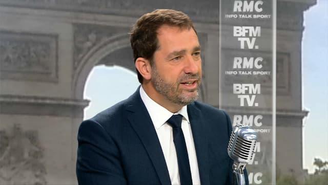 Christophe Castaner, mercredi matin sur BFMTV et RMC.