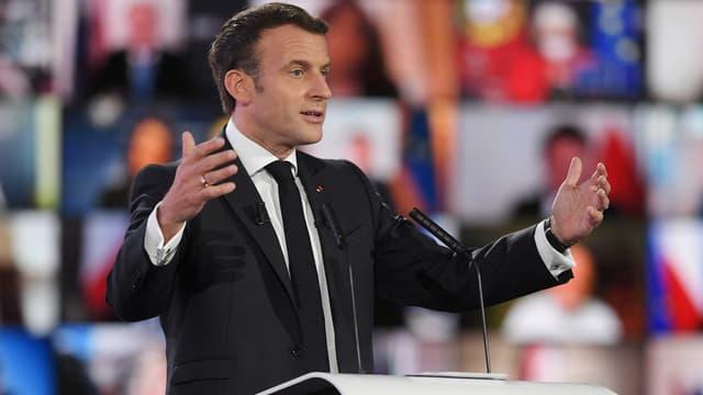 Emmanuel Macron lors de la Conférence sur le futur de l'Europe à Strasbourg, le 9 mai 2021