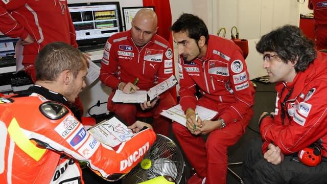 Valentino Rossi avec Preziosi (à droite)