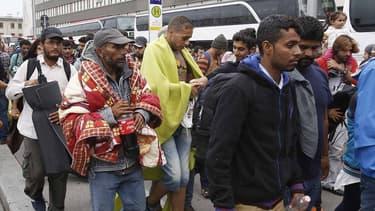 Des migrants le 5 septembre 2015