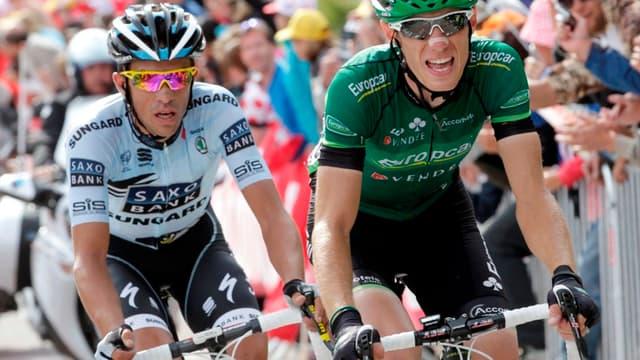 Comme en 2011, avec ici le mano a mano entre Pierre Rolland et Alberto Contador, le Tour passera par l'Alpe d'Huez