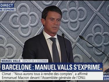 """Manuel Valls: """"Je veux être le prochain maire de Barcelone"""""""