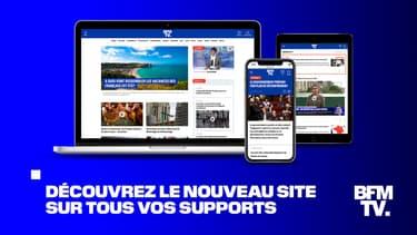 La nouvelle version du site BFMTV.com mise en ligne le 18 juin 2020
