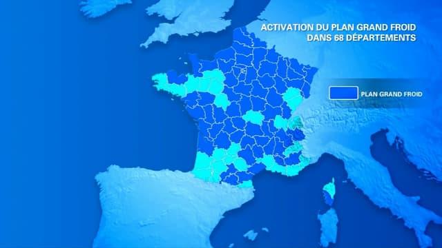 Le plan Grand froid est activé dans les trois quarts du pays.