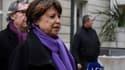 Martine Aubry au siège du PS lundi 7 mars