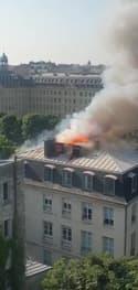 Paris: un incendie se déclare près de Matignon - Témoins BFMTV