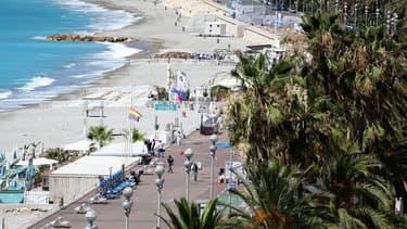 Vue sur la promenade des Anglais, à Nice, le 15 juillet 2016.