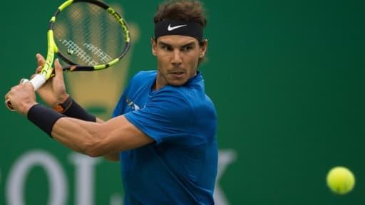 L'Espagnol Rafael Nadal lors du tournoi de Shanghai, le 13 octobre 2017