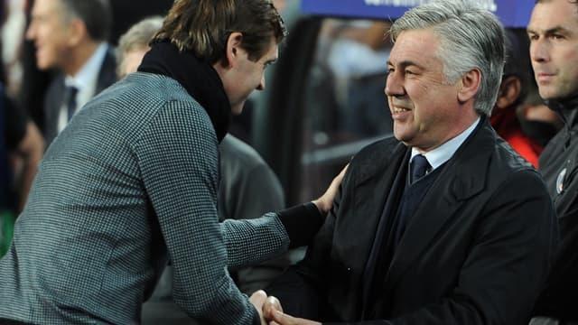 Carlo Ancelotti avec Tito Vilanova