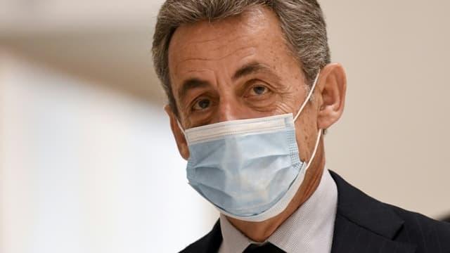 L'ancien président Nicolas Sarkozy au tribunal de Paris, le 10 décembre 2020