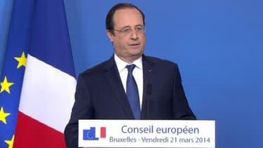 François Hollande, vendredi, à Bruxelles.