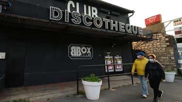 Discothèque fermée en raison du Covid-19 à Sète, le 24 novembre 2020