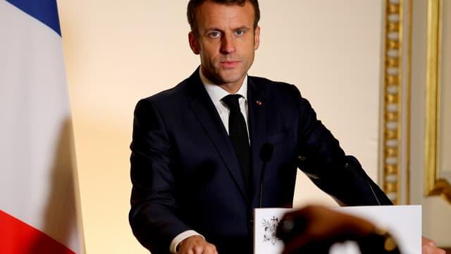 Emmanuel Macron à un meeting à la préfecture d'Epernay, le 14 novembre 2019