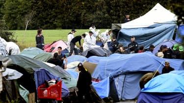 Un camp de migrants à Grande-Synthe en 2019.