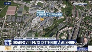 Orages: le service des urgences de l'hôpital d'Auxerre inondé
