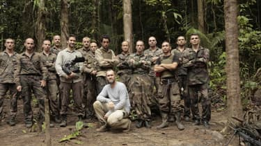 """Le journaliste de BFMTV Thomas Misrachi, """"embeddé"""" avec le 3e Régiment Etranger d'Infanterie."""