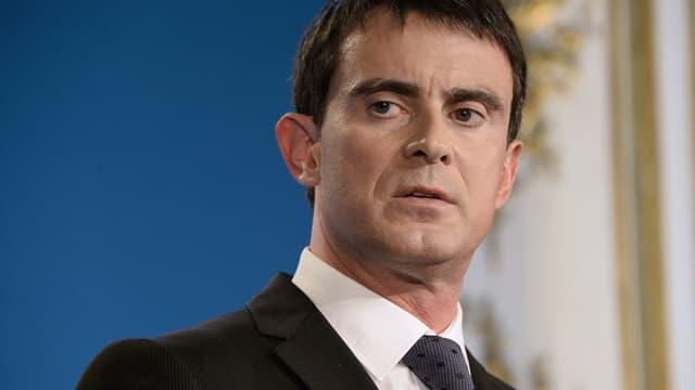 Manuel Valls à Matignon en janvier 2015.