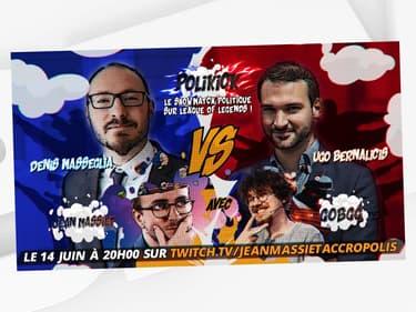 """Les députés Denis Masséglia et Ugo Bernalicis vont s'affronter en ligne le 10 juin 2021 sur le jeu """"League of Legends""""."""