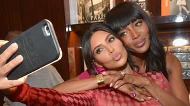 Kim Kardashian et Naomi Campbell en 2016