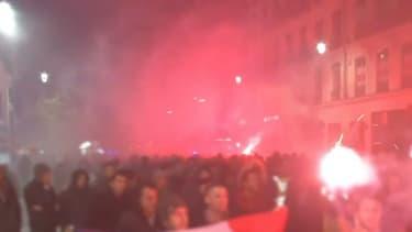 Près de 700 policiers en colère ont manifesté à Lyon.