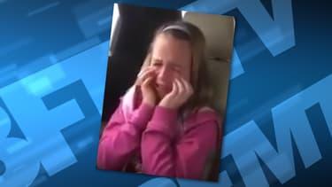 Cette petite fille n'a pu contenir son émotion en apprenant qu'elle allait voir Donald Trump en meeting.