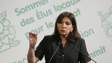 La maire de Paris Anne Hidalgo le 30 juin 2015 à la mairie de Paris