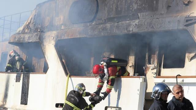 Un incendie s'est déclaré dans la nuit de vendredi à samedi sur le Lalibela, un yacht de 42 mètres à Vallauris
