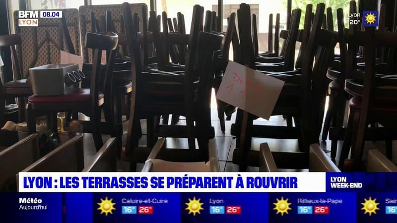 Lyon: les terrasses se préparent à rouvrir