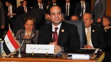 Le président égyptien Abdel Fattah al-Sisi à l'ouverture du somme de la Ligue arabe le 28 mars 2015 à Charm el-Cheikh