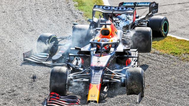 Verstappen et Hamilton ont abandonné après leur crash sur le Grand Prix d'Italie