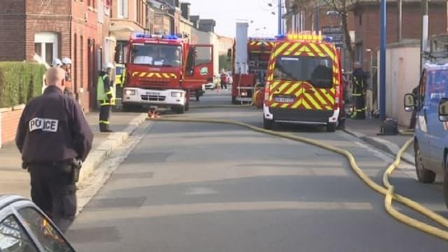 La rue Victo Hugo, à Sotteville-lès-Rouen, où s'est déclenché un incendie ce samedi, en milieu d'après-midi, faisant 3 morts.