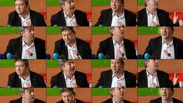Jean-Luc Mélenchon a improvisé une conférence de presse vendredi à Grenoble.