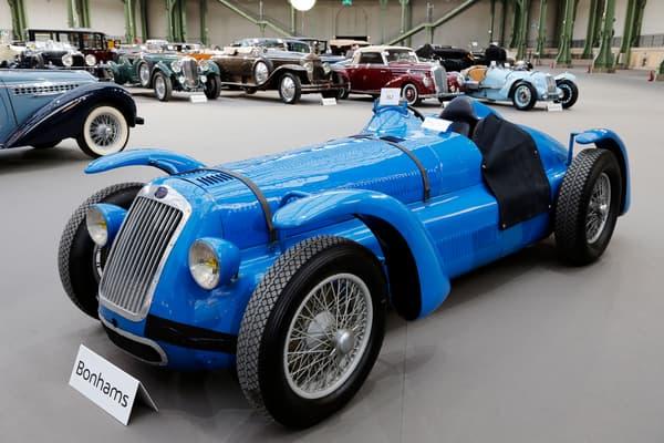 Un modèle historique de la marque Delage, un Concours D6, ici en 2014 au Grand Palais à Paris.