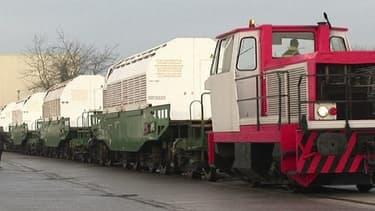Train transportant des déchets nucléaires. (image d'illustration)