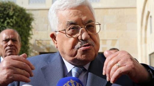 Le président de l'autorité palestienne Mahmoud Abbas, le 22 octobre 2017