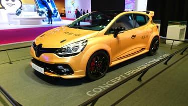 La Clio RS16 était bien présente au Mondial mais ne sera finalement pas produite.