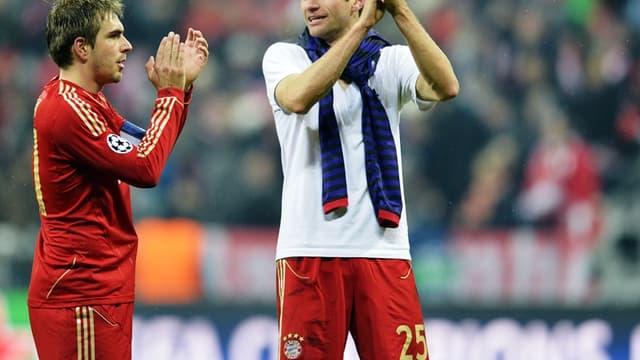 Philipp Lahm et Thomas Muller