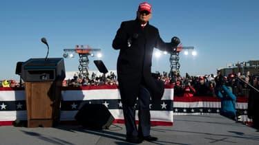 Le président américain Donald Trump lors d'un meeting à Dubuque, le 1er novembre 2020 dans l'Iowa