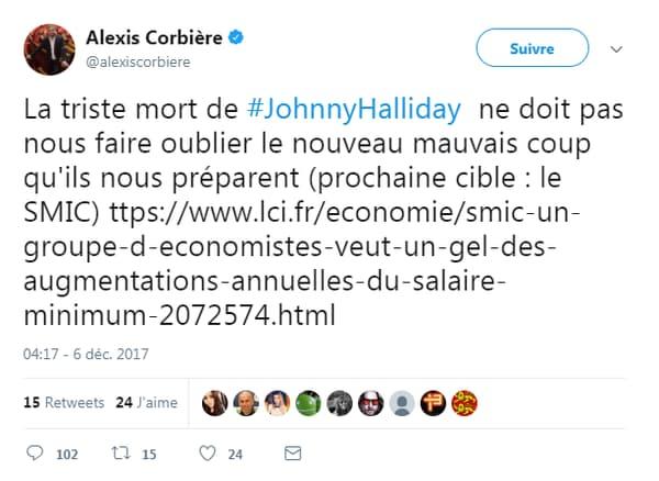 Capture Twitter Alexis Corbière