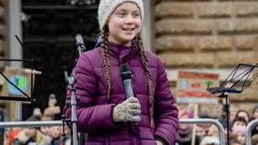 L'activiste suédoise Greta Thunberg, 16 ans