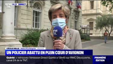 """Cécile Helle, maire PS d'Avignon sur le policier tué: """"Jamais on n'avait atteint un tel degré de violence"""""""