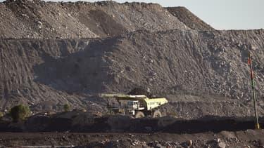 Mine de charbon à ciel ouvert, Hunter Valley, Australie ( image d'illustration)
