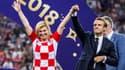 Kolinda Grabar-Kitarovic et Emmanuel Macron