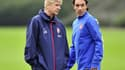 Arsène Wenger et Robert Pirès