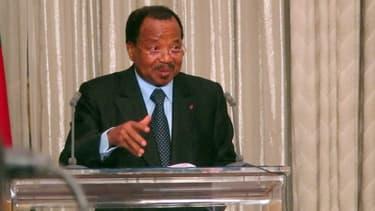 Le président du Cameroun Paul Biya, le 19 avri 2013